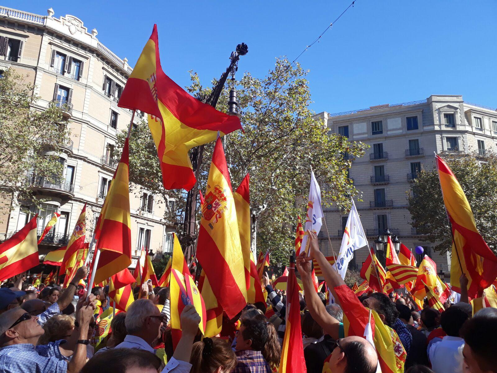 Francisco  Frutos. Intervento alla manifestazione del 29 ottobre 2017 a Barcellona.